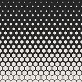 Abstract geometric pattern. Hipster fashion design print hexagonal pattern. White honeycombs on a black background. Vector. Royalty Free Stock Photos