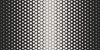 Abstract geometric pattern. Hipster fashion design print hexagonal pattern. White honeycombs on a black background. Vector. Stock Photography