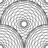 Abstract geometric pattern with intersection of spirographic lines. Stylish monochrome texture. Seamless linear pattern. Stock Image
