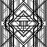 Abstract geometric pattern,. Interwoven with volumetric grid lines, a background in art deco style Stock Illustration