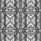 Abstract geometric pattern,. Interwoven with volumetric grid lines, a background in art deco style Royalty Free Illustration