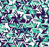 Abstract geometric pattern. A kaleidoscope of lines and triangles. Optical illusions vector illustration