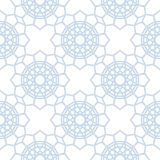 Abstract geometric pattern. Light blue and white seamless background. Vector Stock Photos
