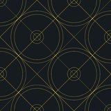 Abstract geometric pattern with lines, circles. Vector Royalty Free Stock Photos