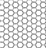 Abstract geometric pattern with lines, cubes, hexagons, rhombus. Seamless vector background. Tattoo pattern. Black and white latti. Seamless abstract pattern Stock Photo