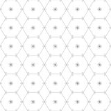 Abstract geometric pattern by lines and hexagons. Royalty Free Stock Image