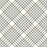 Abstract geometric pattern with lines, rhombuses a seamless vector background. Black and white texture. Eps10 royalty free illustration