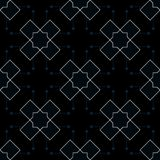 Abstract geometric pattern with lines, rhombuses A seamless vector background. Blue-black and gold texture. Eps10 Stock Image