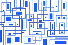 Abstract geometric pattern royalty free illustration