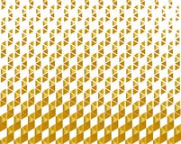 Abstract geometric pattern, metallic color in luxury style, gradient yellow golden spiral striped texture on white background. There are different sizes of vector illustration