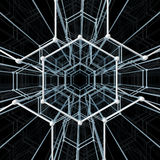 Abstract geometric pattern. Network connection Royalty Free Stock Photos