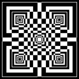 Abstract geometric pattern in op art style. Stock Images