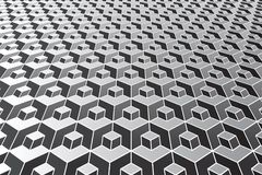 Abstract geometric pattern. Optical illusion effect. Vector art Royalty Free Stock Image