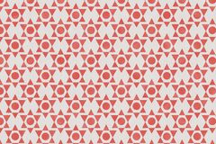 Abstract red geometric pattern on paper textured background. Abstract geometric pattern on paper textured background with red color tone for wrapping paper vector illustration