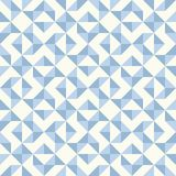 Abstract geometric pattern, patchwork quilting. Regular geometric pattern inspired by traditional patchwork duvet quilting. Only 3 colors - easy to recolor Royalty Free Stock Photo