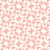 Abstract geometric pattern, patchwork quilting. Regular geometric pattern inspired by traditional patchwork duvet quilting. Only 3 colors - easy to recolor Royalty Free Stock Images