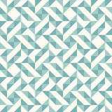 Abstract geometric pattern, patchwork quilting. Regular geometric pattern inspired by traditional patchwork duvet quilting. Only 3 colors - easy to recolor Royalty Free Stock Photography