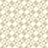 Abstract geometric pattern, patchwork quilting. Regular geometric pattern inspired by traditional patchwork duvet quilting. Only 3 colors - easy to recolor Stock Image