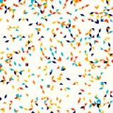 Abstract geometric pattern, random small spots and dots, flickering colors. Abstract geometric pattern, small spots and dots. Colorful particles on light ivory Stock Image