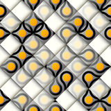 Abstract geometric pattern with relief effect royalty free illustration