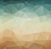 Abstract geometric pattern retro background stock illustration