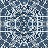 Abstract geometric pattern. Sacred fractal texture mandala design art blue green yellow photo manipulation background polygon stock illustration
