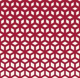 Abstract geometric pattern. Abstract sacred geometry red grid halftone cubes pattern vector illustration