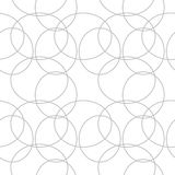 Abstract geometric pattern. A seamless background. Black and white texture. Stock Images