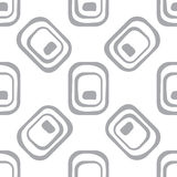 Abstract geometric pattern. A seamless background. Grey and white texture. Royalty Free Stock Images
