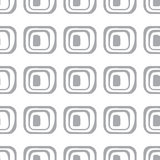 Abstract geometric pattern. A seamless background. Grey and white texture. Royalty Free Stock Photo
