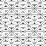 Abstract geometric pattern seamless pattern. Interlocking triangles background. Vector monochrome background. Abstract geometric pattern seamless pattern vector illustration