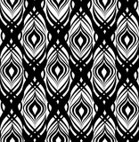 Abstract geometric pattern. Seamless line black and white orname Stock Image