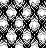 Abstract geometric pattern. Seamless line black white ornament Stock Image