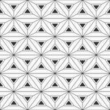 Abstract geometric pattern seamless pattern. Interlocking triangles background. Vector monochrome background. Abstract geometric pattern seamless pattern stock illustration