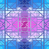 Abstract geometric pattern, seamless vector wallpaper Royalty Free Stock Image