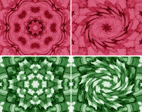 Abstract geometric pattern. Set of four abstract geometric texture with vortex, made with watercolor style vector illustration