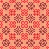 Abstract geometric pattern in shades of red. Seamless abstract geometric pattern in shades of red royalty free illustration