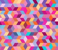 Abstract geometric pattern with geometric shapes. Endless background of decorative elements. EPS 10 royalty free illustration