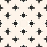 Abstract geometric pattern with simple figures, crosses, circles. Vector monochrome seamless texture, abstract geometric pattern with simple figures, crosses Stock Photo