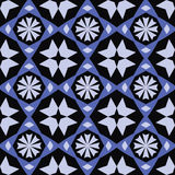 Abstract geometric pattern with snowflakes Royalty Free Stock Photo