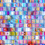 Abstract geometric pattern of squares Royalty Free Stock Photography
