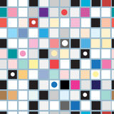 Abstract geometric pattern of squares Royalty Free Stock Photo