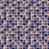Abstract geometric pattern with squares of different colors connected like a mosaic royalty free stock image