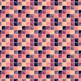 Abstract geometric pattern with squares of different colors connected like a mosaic. stock photography