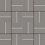 Abstract geometric pattern with stripes, lines. Seamless vector ackground. Black and white lattice texture. Abstract geometric pattern with stripes, lines Royalty Free Stock Image