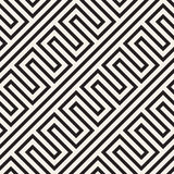 Abstract geometric pattern with stripes, lines. Seamless vector ackground. Black and white lattice texture. Abstract geometric pattern with stripes, lines Stock Photography