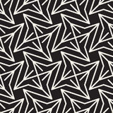 Abstract geometric pattern with stripes, lines. Seamless vector ackground. Black and white lattice texture. Abstract geometric pattern with stripes, lines Stock Image