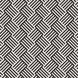 Abstract geometric pattern with stripes, lines. Seamless vector ackground. Black and white lattice texture. Abstract geometric pattern with stripes, lines Stock Photo
