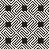 Abstract geometric pattern with stripes, lines. Seamless vector ackground. Black and white lattice texture. Abstract geometric pattern with stripes, lines Royalty Free Stock Photography