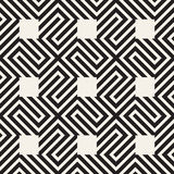 Abstract geometric pattern with stripes, lines. Seamless vector ackground. Black and white lattice texture. Abstract geometric pattern with stripes, lines Royalty Free Stock Photos